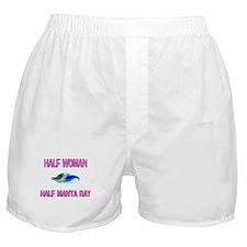 Half Woman Half Manta Ray Boxer Shorts