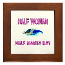 Half Woman Half Manta Ray Framed Tile