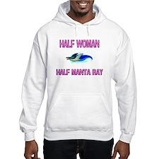 Half Woman Half Manta Ray Hoodie