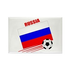 Russia Soccer Team Rectangle Magnet
