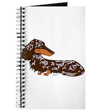 Chocolate Dapple Dachshund Journal