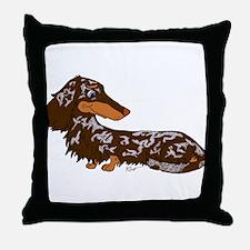Chocolate Dapple Dachshund Throw Pillow