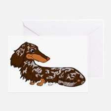 Chocolate Dapple Dachshund Greeting Card