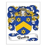 Baudry Family Crest Small Poster