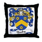 Baudry Family Crest Throw Pillow
