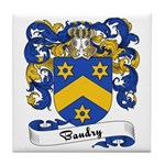 Baudry Family Crest Tile Coaster