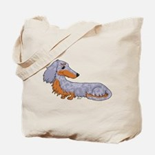 Blue Dapple Dachshund Tote Bag