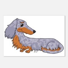 Blue Dapple Dachshund Postcards (Package of 8)