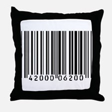 Bar Code Throw Pillow