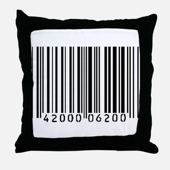 Bar Code Throw Pillow