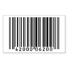 Bar Code Rectangle Decal