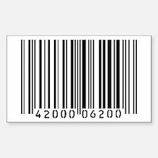 Bar Code Rectangle Decal