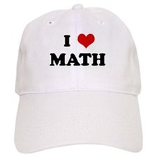 I Love MATH Baseball Baseball Cap