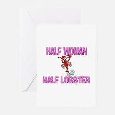 Half Woman Half Lobster Greeting Cards (Pk of 10)