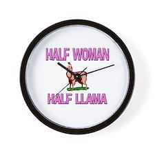 Half Woman Half Llama Wall Clock