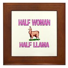Half Woman Half Llama Framed Tile