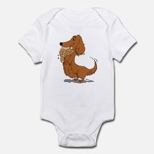 Dachshund and Bear Infant Bodysuit