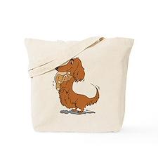 Dachshund and Bear Tote Bag