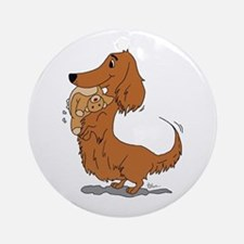 Dachshund and Bear Ornament (Round)