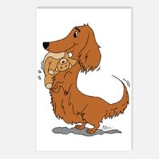 Dachshund and Bear Postcards (Package of 8)