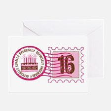 Sweet 16 Stamp Greeting Card