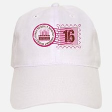 Sweet 16 Stamp Baseball Baseball Cap