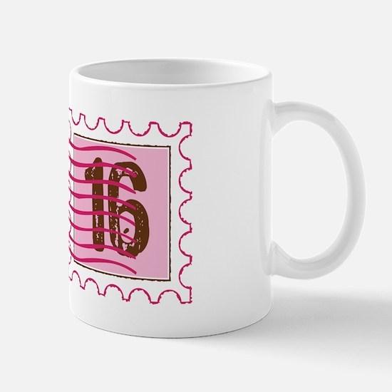 Sweet 16 Stamp Mug