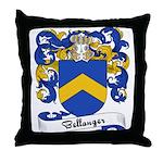 Bellanger Family Crest Throw Pillow
