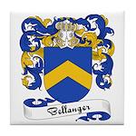 Bellanger Family Crest Tile Coaster