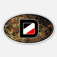 German imperial flag camo car decal (with frame)