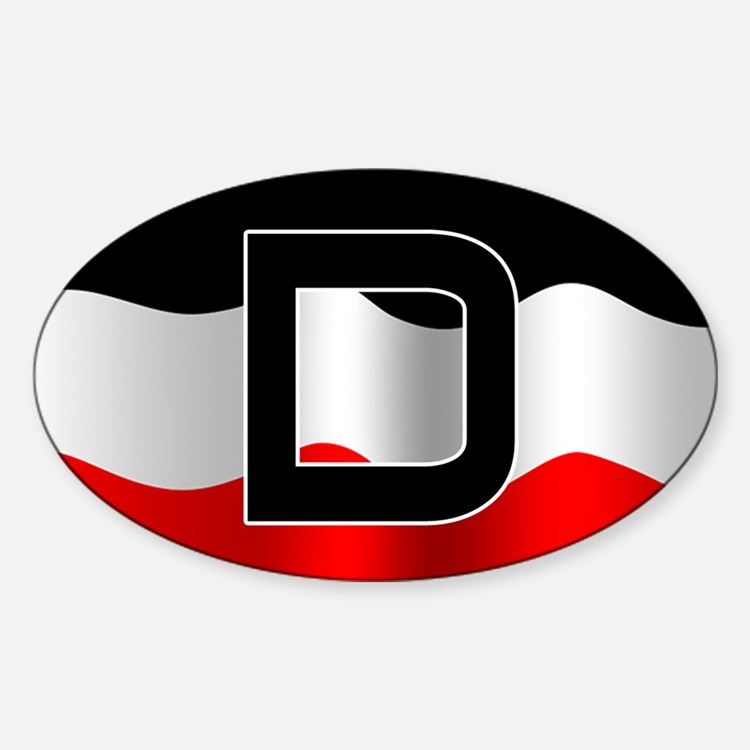 German imperial flag car decal (no frame)