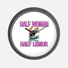 Half Woman Half Lemur Wall Clock