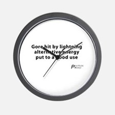 Political Haiku - Alternative Energy Wall Clock