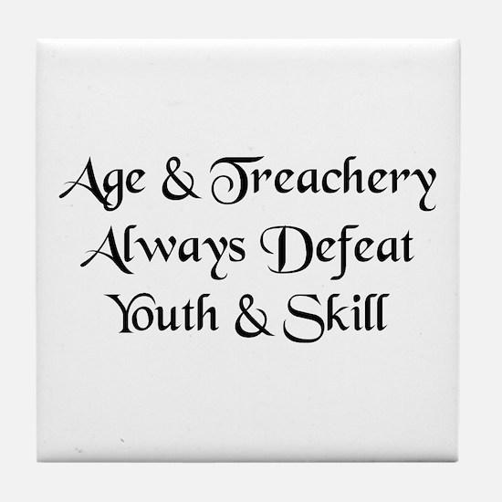 Age & Treachery Tile Coaster