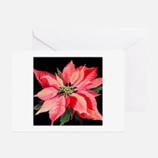 Red Poinsettia Greeting Card