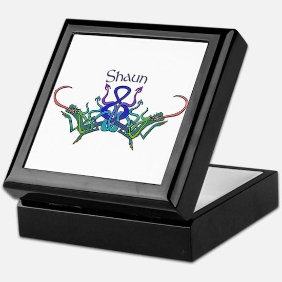 Shaun's Celtic Dragons Name Keepsake Box