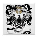 Benoist Family Crest Tile Coaster