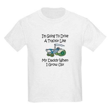 Cute Tractor Like My Daddy Kids Light T-Shirt
