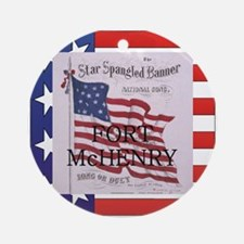 ABH Fort McHenry Round Ornament