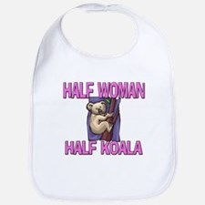 Half Woman Half Koala Bib