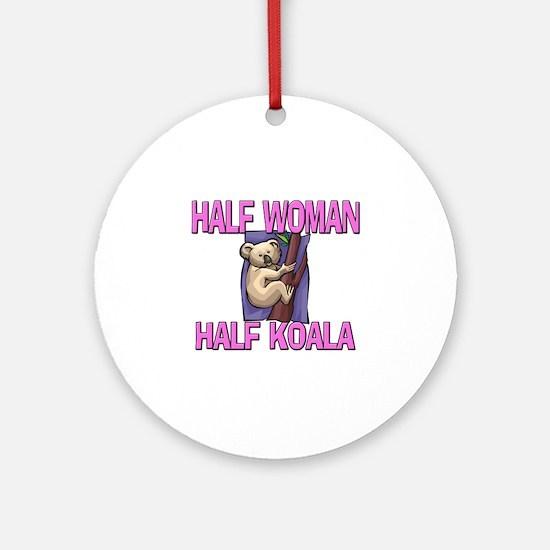Half Woman Half Koala Ornament (Round)