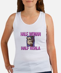 Half Woman Half Koala Women's Tank Top