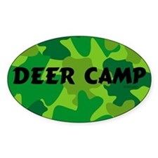 Deer Camp Oval Decal