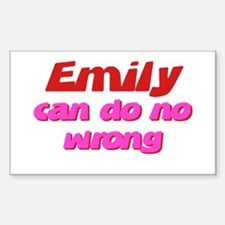 Emily Can Do No Wrong Rectangle Decal