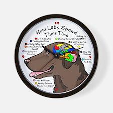 Chocolate Lab Brain Wall Clock