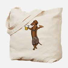 Dachshund Lederhosen Tote Bag