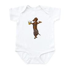 Dachshund Lederhosen Infant Bodysuit