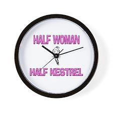 Half Woman Half Kestrel Wall Clock