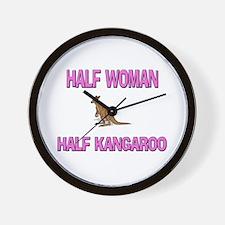 Half Woman Half Kangaroo Wall Clock