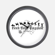 Feed Your Passion Snowboarding Wall Clock